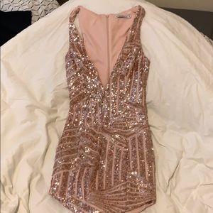 Low cut sequin dress